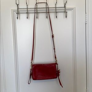 FRYE CROSSBODY BAG RED FRYE WRISTLET FRYE RED BAG